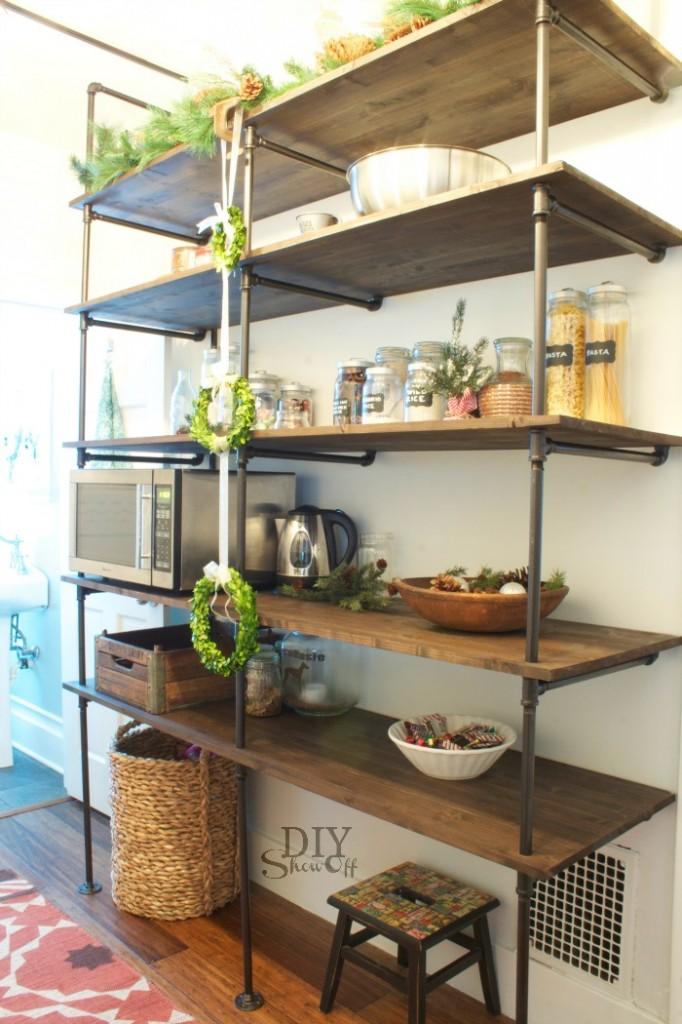 Christmas pantry at DIYShowOff