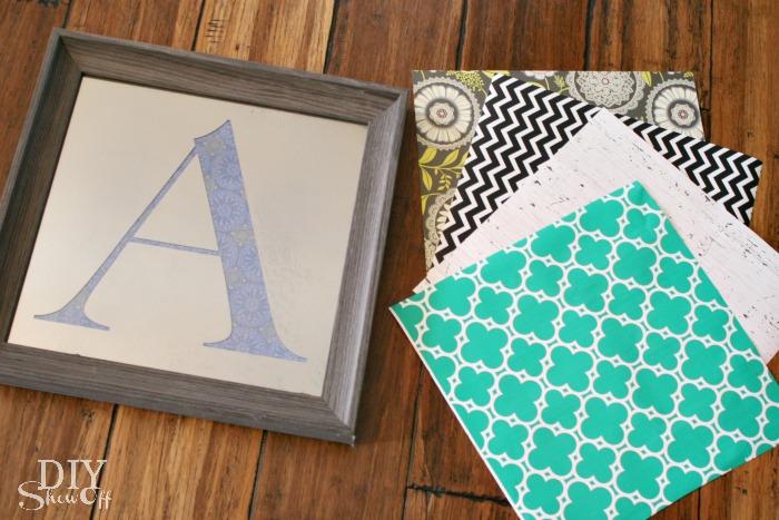 One decorative accent - UNLIMITED LOOKS: DIY Interchangeable/Custom Monogrammed Mirror Tutorial