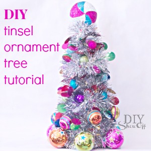 DIY tinsel ornament tree craft tutorial