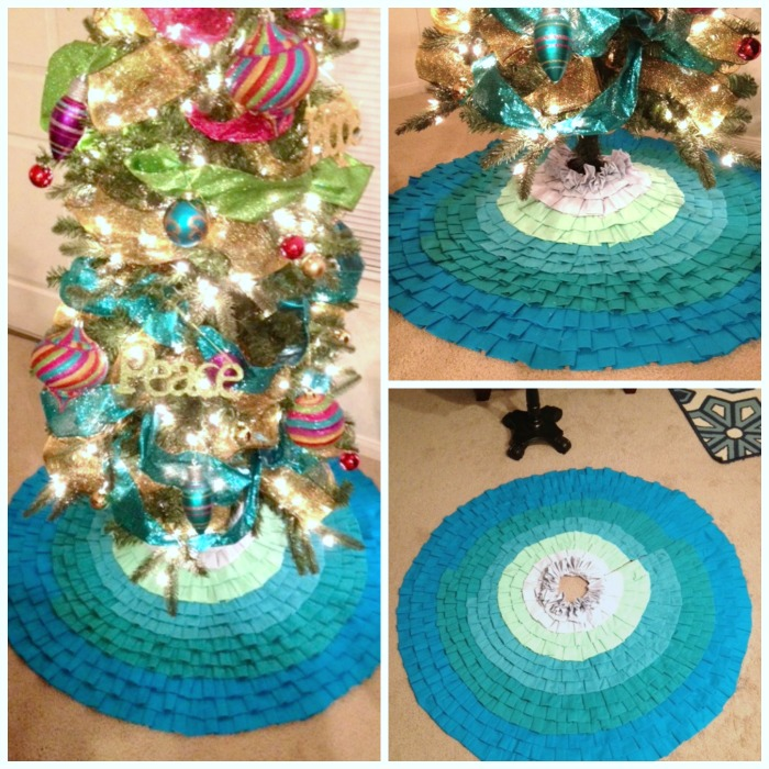 Jillian's ombre ruffled tree skirt