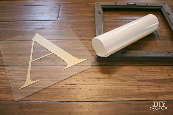 Monogrammed Mirror DIY tutorial