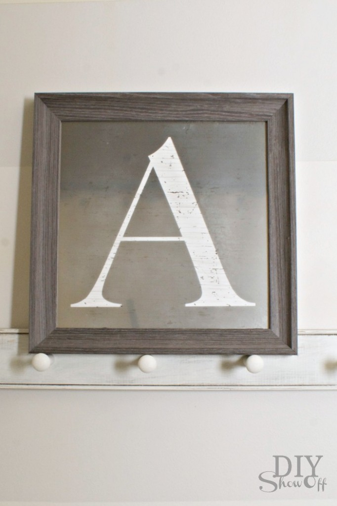Monogrammed Mirror Tutorial
