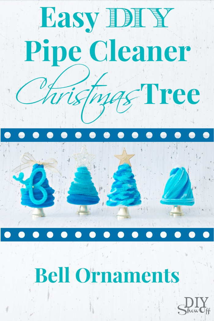 easy DIY pipe cleaner Christmas tree bell ornament tutorial
