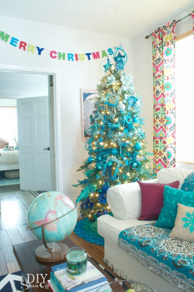 eclectic colorful Christmas