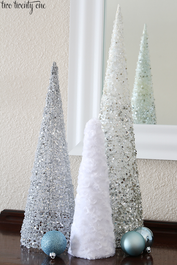 fuzzy-christmas-tree-cones Two Twenty One