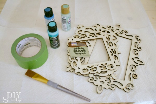 ombre ornament frame supplies