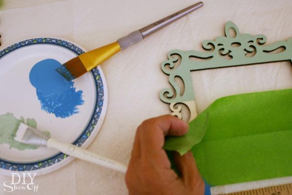 ombre ornament frame tutorial