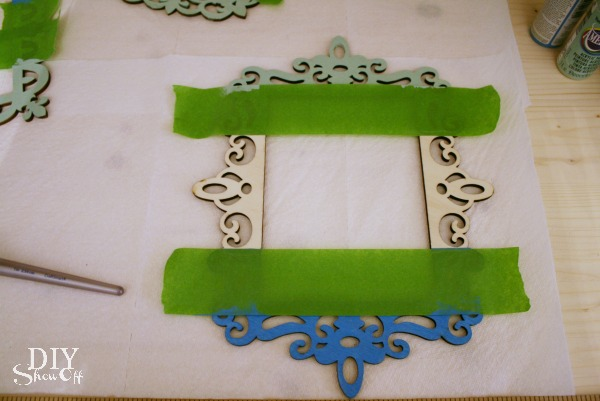 painted ombre ornament frame tutorial
