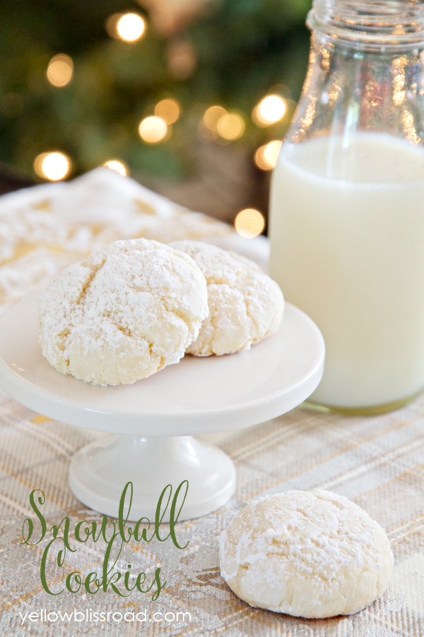 snowball cookies Yellow Bliss Road