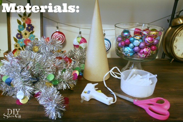 tinsel ornament tree materials