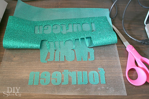 diy glitter iron-on vinyl tutorial - diy show off ™ - diy