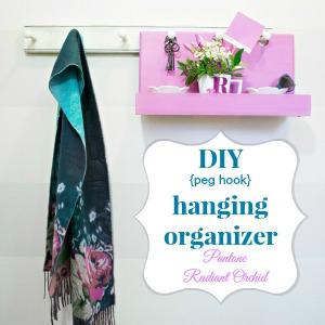 DIY hanging organizer - Pantone radiant orchid
