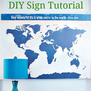 DIY Song Lyric Sign Tutorial