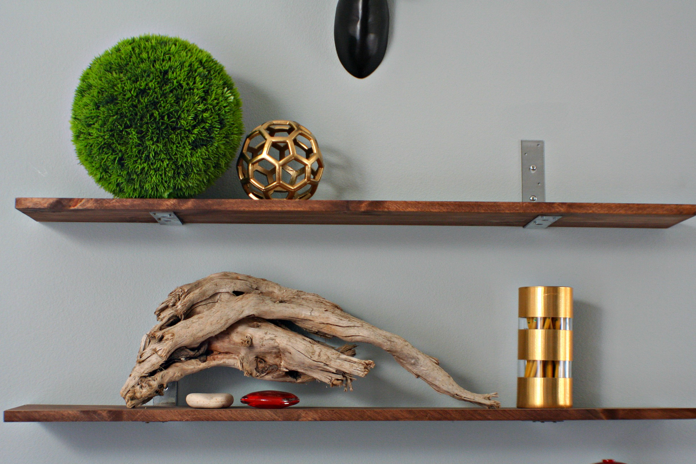 DIY industrial shelves at Amy Krist