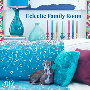 Eclectic Family Room at DIYShowOff