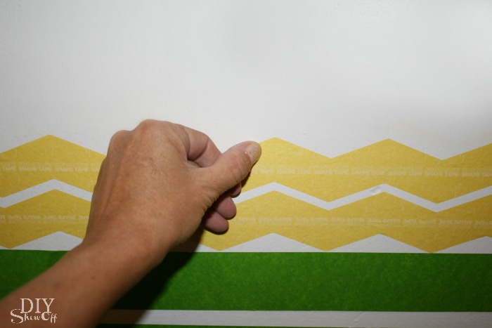 FrogTape Shape Tape accent wall