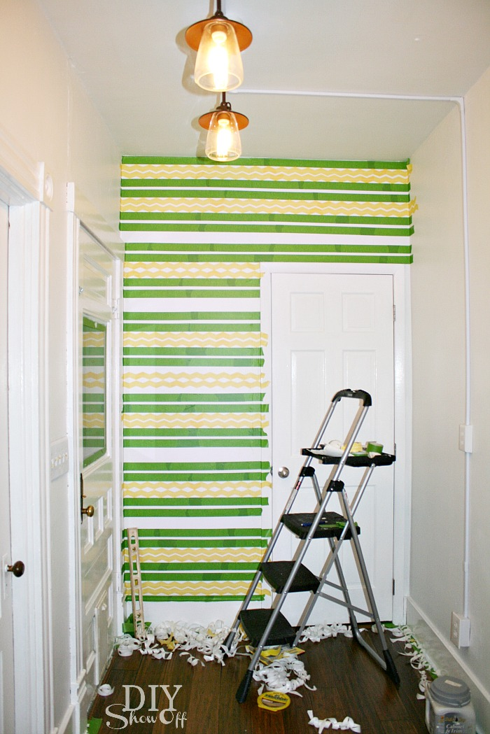 frogtape chevron shape tape accent wall - Simple Shapes Wall Design