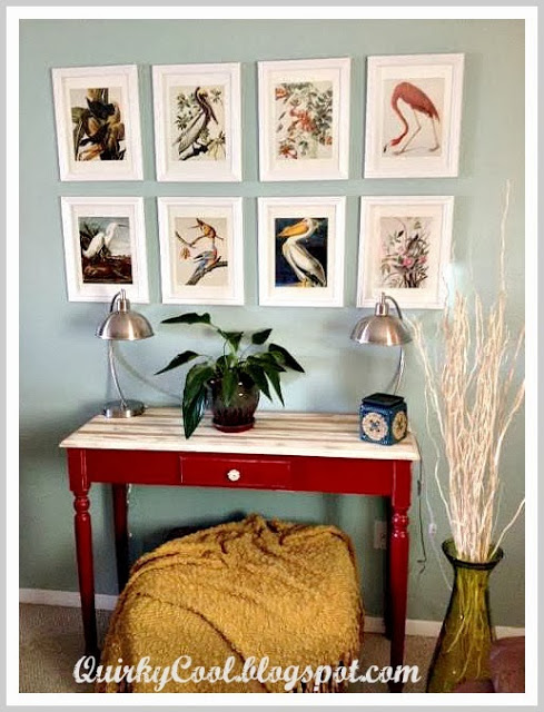 Gallery Wall at Quirky Cool Blog