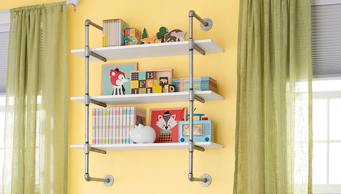 Lowes Creative Ideas Pipe Shelving