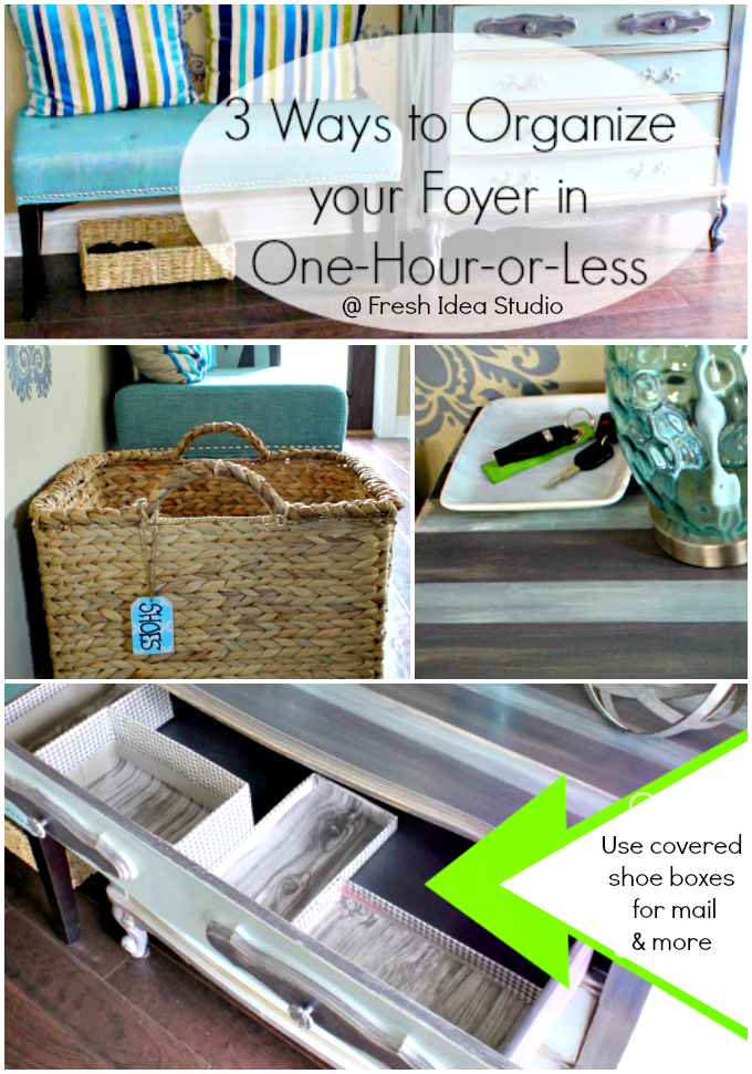 Organize-your-Foyer-in-One-Hour-Or-Less at Fresh Idea Studio