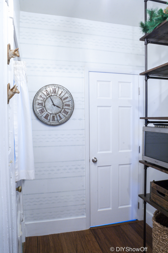 Painted Pantry Accent Wall