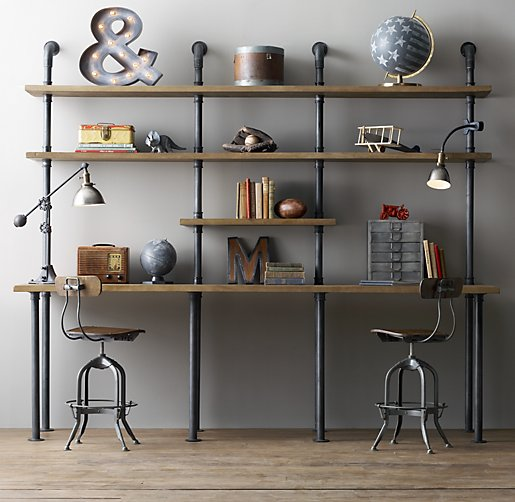 RH pipe shelving