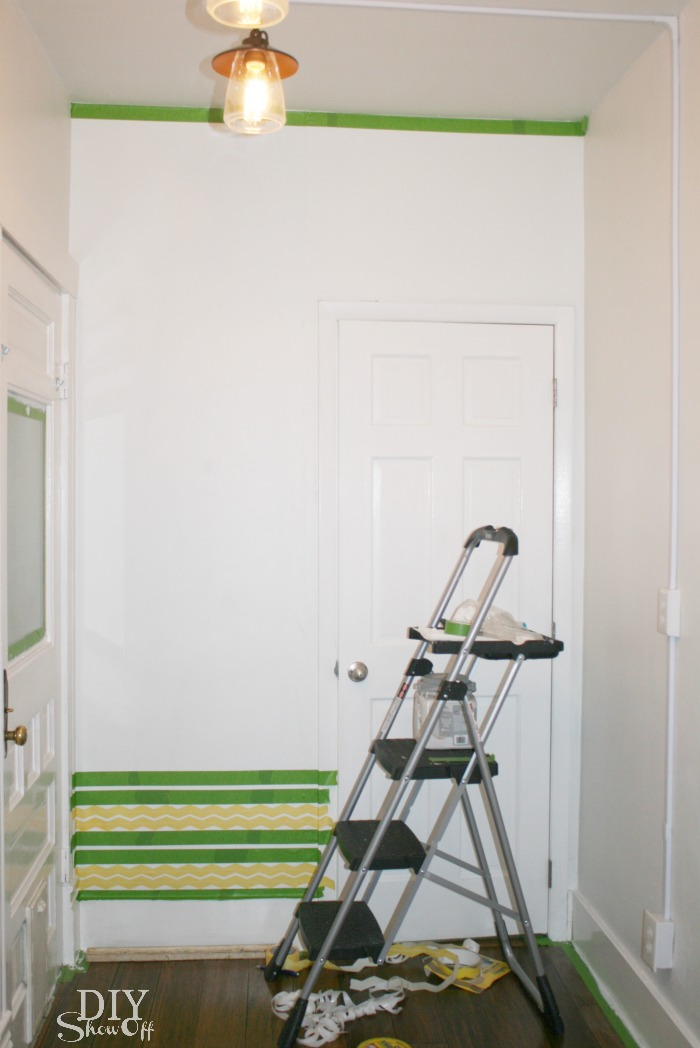 Shape Tape Accent Wall