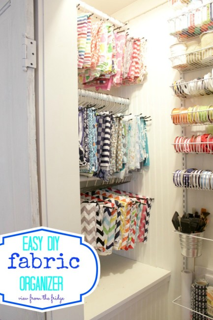 craft closet organization at View from the Fridge