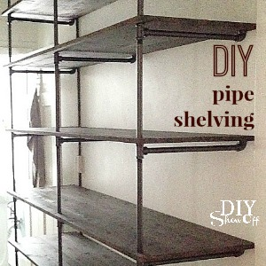 Tips for Making a DIY Industrial Pipe Shelving Unit