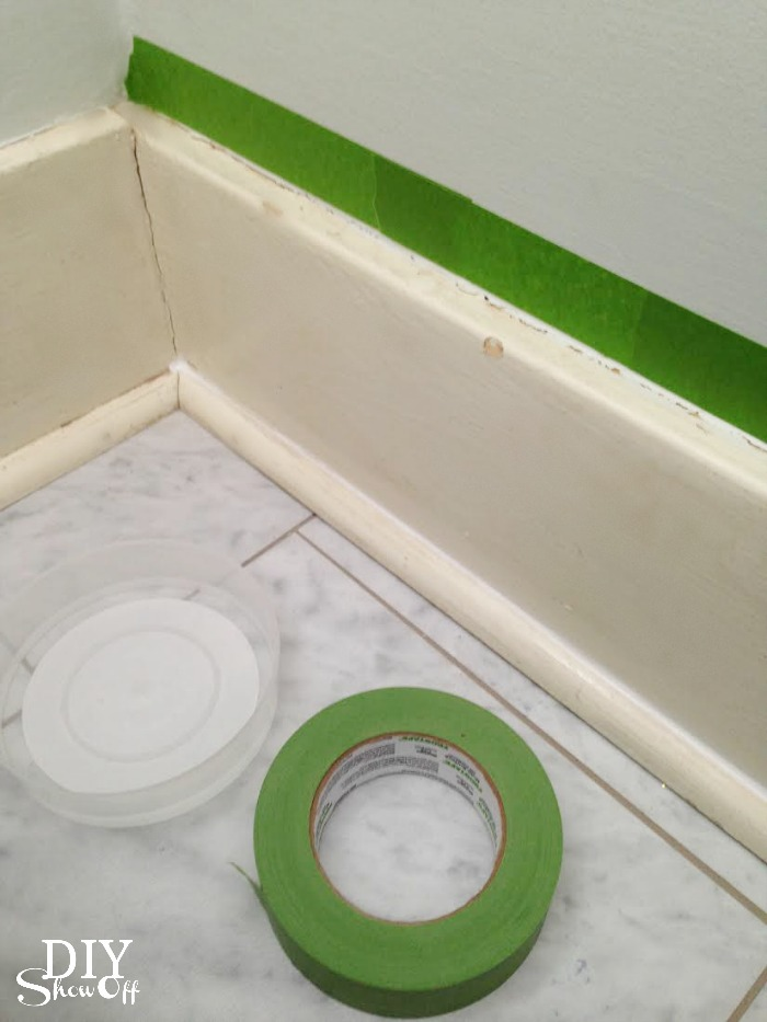 DIY caulking baseboard trim