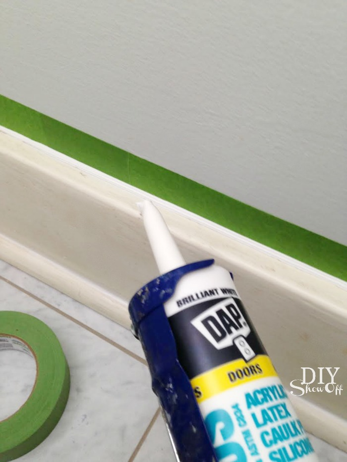 caulking baseboard trim tutorial
