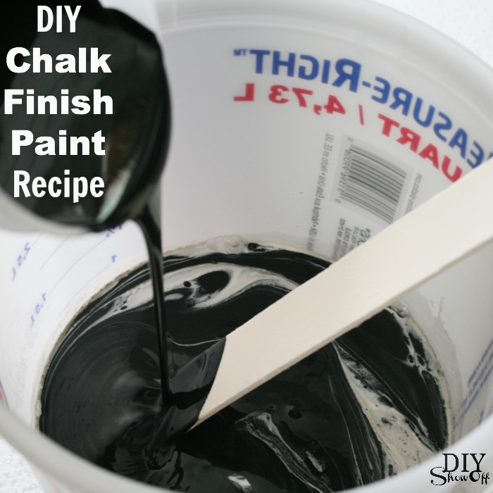 DIY Chalk Finish Paint Recipe at DIYShowOff