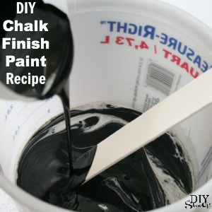 DIY Chalk Finish Paint Recipe