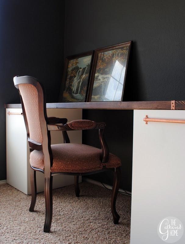 DIY Ikea desk hack @TheGatheredHome