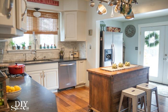 Eclectic Vintage Modern Farmhouse Kitchen