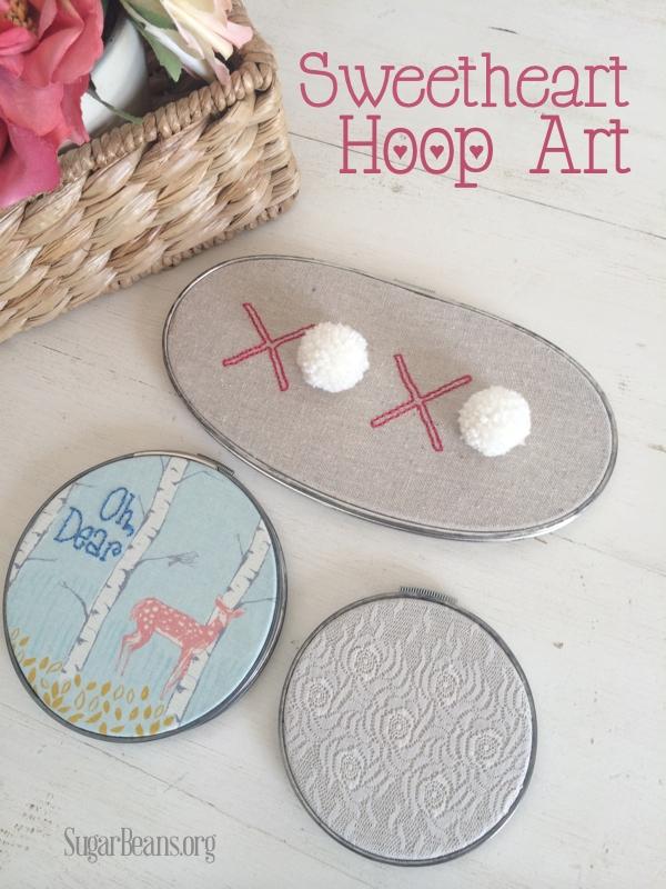 Sweetheart Hoop Art @SugarBeans