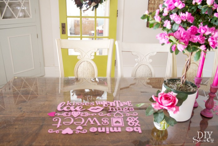 Vinyl Decoration Table : Valentine s day decorating vinyl decal glass top table