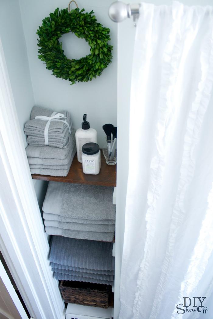 Elegant bathroom storage