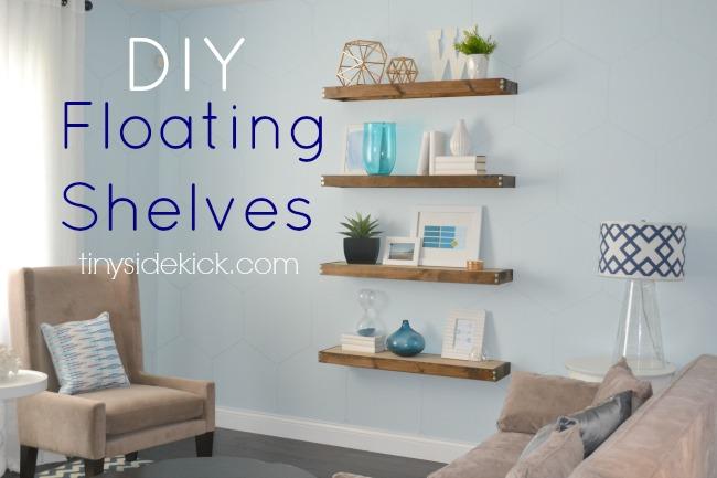 floating shelves tutorial @TinySideKick