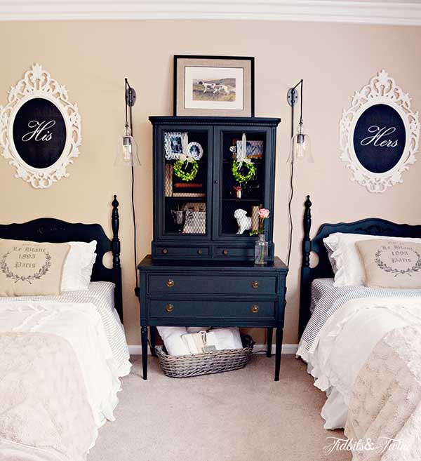 guest room makeover @TidbitsandTwine