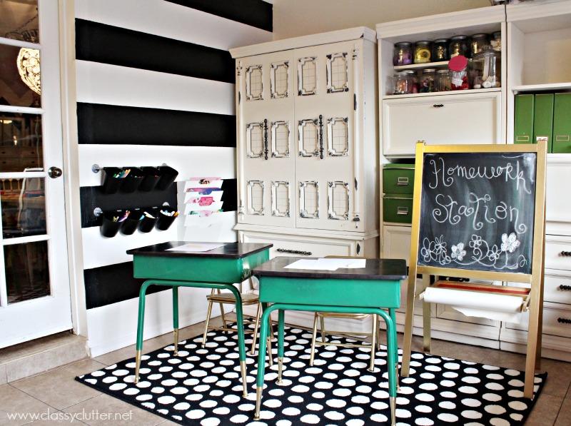 homework station @ClassyClutter