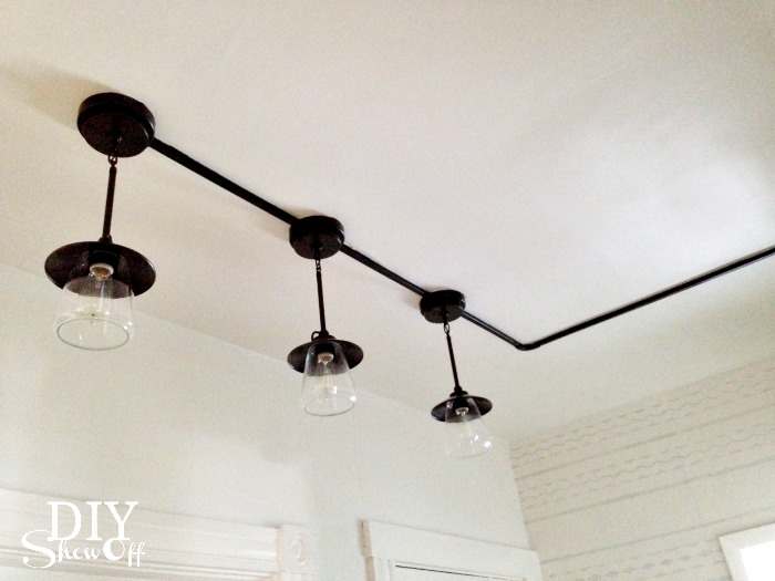industrial pantry lights with wall track