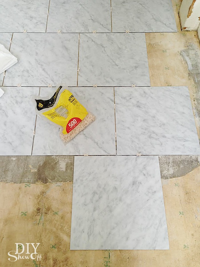 DIY Grouted Vinyl Floor Tiles Show Off