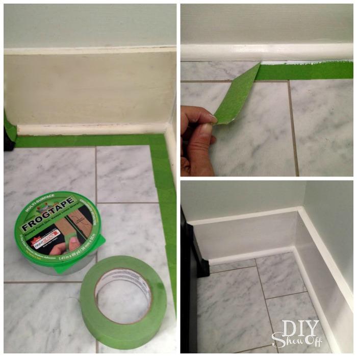 painting baseboard trim