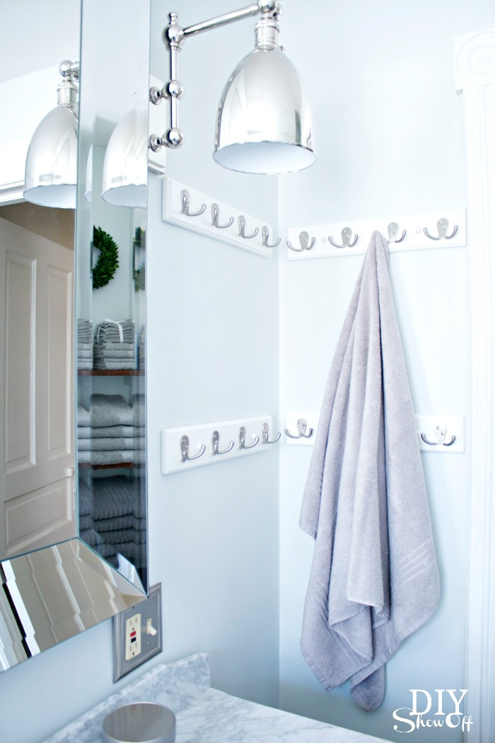 towel hooks - diyshowoff bathroom makeover