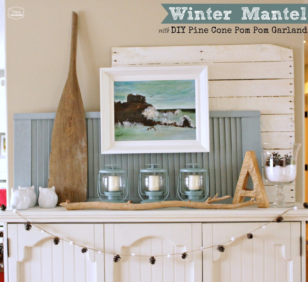 winter mantel @theHappyHousie