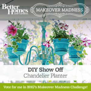 Better Homes and Gardens Makeover Madness DIYShowOff chandelier planter
