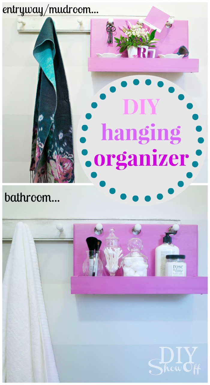 DIY Hanging Organizer Tutorial