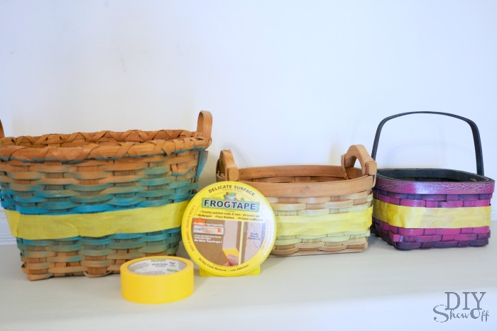 DIY painted basket collection with FrogTape