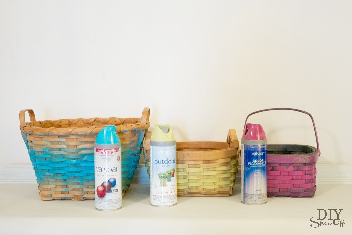 DIY painted basket collection